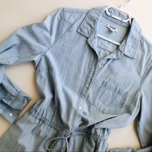 OLD NAVY Light Wash Denim Shirt Dress